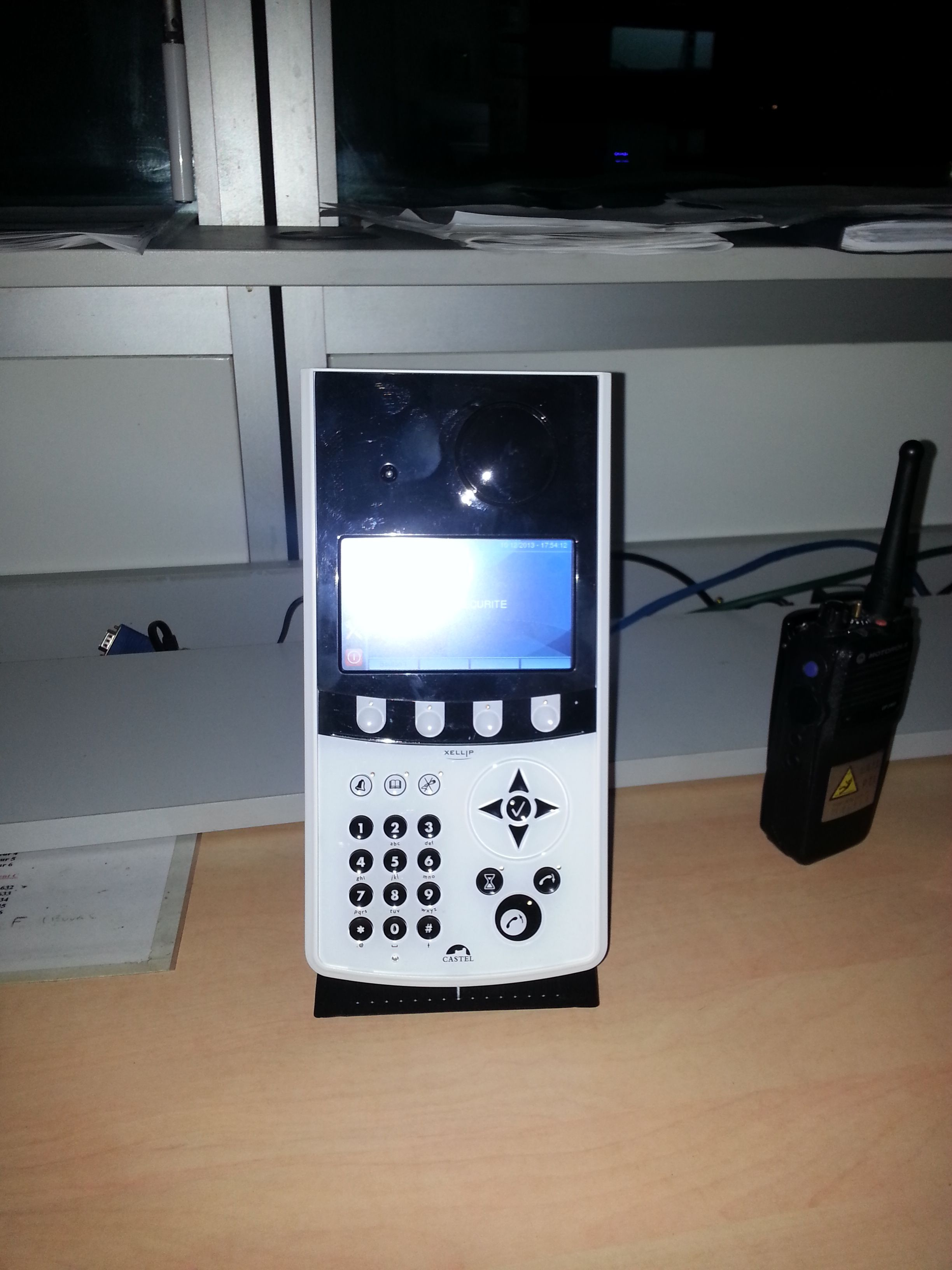 Interphonie IP avec liaison sur Talkie-walkie
